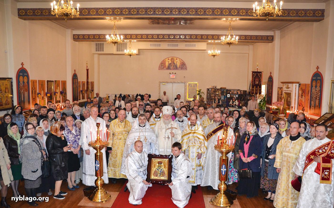На праздновании 100-летия преставления святителя Рафаила Бруклинского – покровителя Бруклина и всего Нью-Йорка, - Иоанно-Предтеченскому собору передана часть мощей святого
