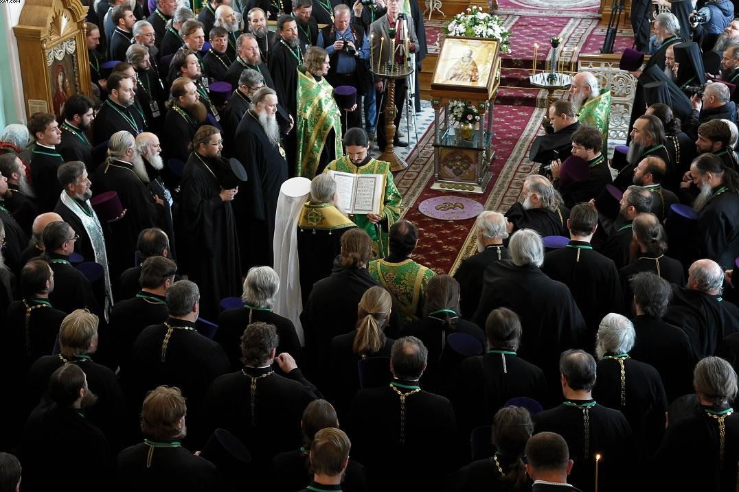 Благочинный Нью-Йоркского округа принимает участие в юбилейных торжествах, посвященных 25-летию канонизации праведного Иоанна Кронштадтского. Молебен
