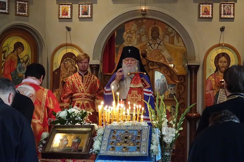 Главная святыня РПЦЗ посетила Петропавловский храм Люксембурга