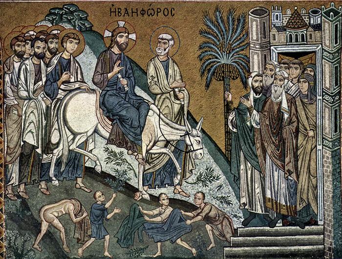Иконография  праздника Входа Господня в Иерусалим
