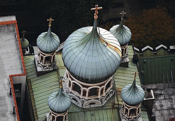 Свято-Николаевский патриарший собор Нью-Йорка. Вид сверху