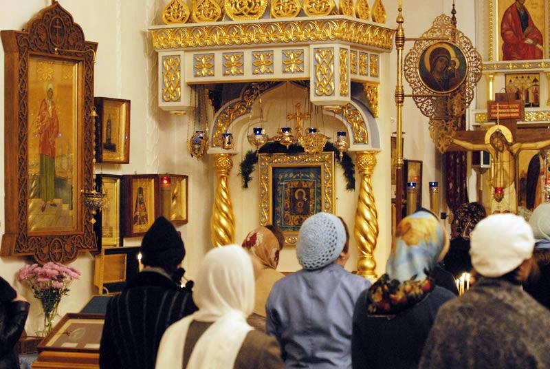 Синодальный собор Знамения Божией Матери. Внутри храма. Нью-Йоркское благочиние