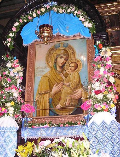 Тихвинская Львовская Слезоточивая икона