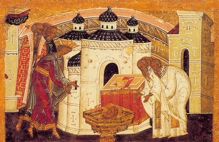 Обретение главы Иоанна Крестителя. Икона