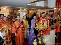 Еп. Иероним возглавил соборное служение в день малого престольного праздника храма «Неупиваемая Чаша»