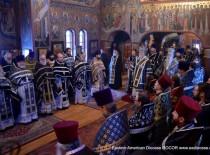 Северное великопостное говение завершилось Архиерейской Преждеосвященной литургией