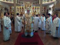 24 мая - Нью-Йорк: В день памяти святых Кирилла и Мефодия Митрополит Иларион возглавил Литургию Знаменском Синодальном соборе