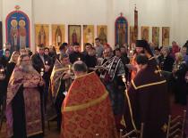 Епископ Манхеттенский Николай возглавил Таинство Елеосвящения в Бруклинском соборе