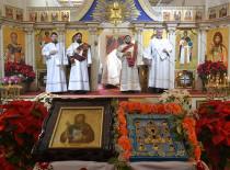 Молитвой перед Курско-Коренной иконой в Иоанно-Предтеченском соборе Бруклина отметили престольный праздник
