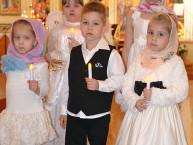 Воспитанники воскресной школы при Иоанно-Предтеченском соборе подготовили к Пасхе праздничный концерт