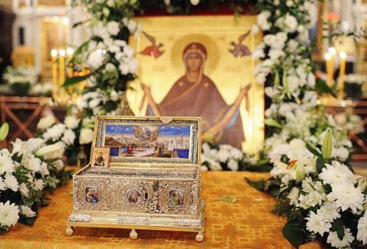 Положение пояса Божией Матери во Влахерне