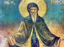 Преподобный Нифонт Афонский (+1411)