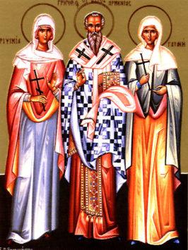 Мученицы Рипсимия, Гаиания и 35 святых дев (III в.)