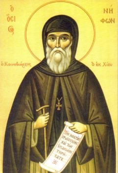 Преподобный Нифонт Хиосский (+1809)