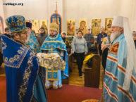 В день праздника Сретения Господня Митрополит Иларион посетил Бруклинский собор и совершил освящение свечей