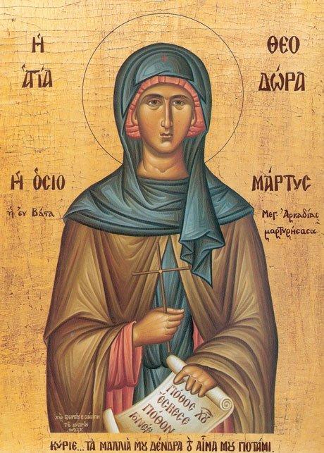 Преподобная Феодора Вастийская (IX в.)