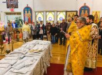 Бруклинский собор благоукрашается: освящен комплект облачений для священнослужителей